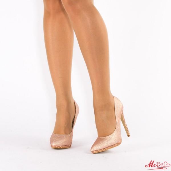 Pantofi cu Toc XKK67 Champagne Mei