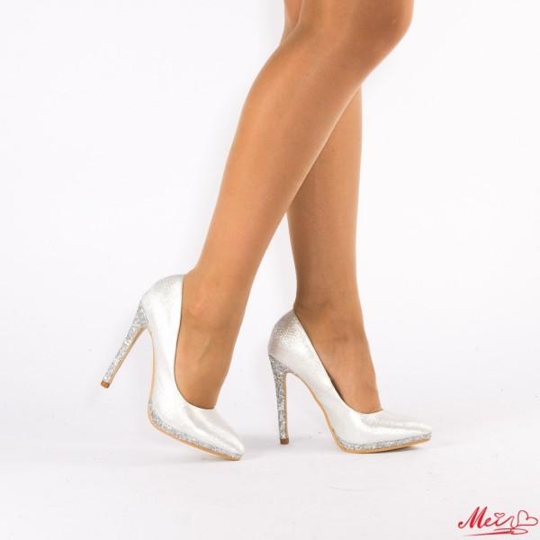 Pantofi cu Toc XKK67 Silver Mei