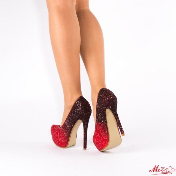 Pantofi cu Toc si Platforma XKK76 Red Mei