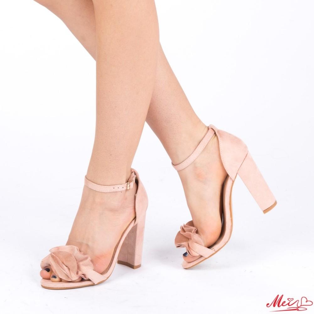 Sandale Dama cu Toc XKK87 Pink Mei