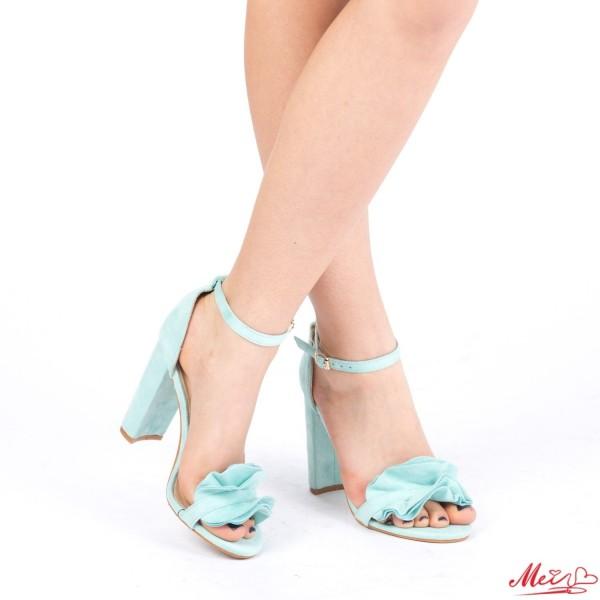 Sandale Dama cu Toc XKK87 Blue Mei