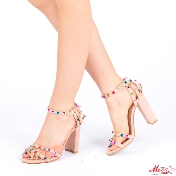 Sandale Dama cu Toc XKK88 Pink Mei