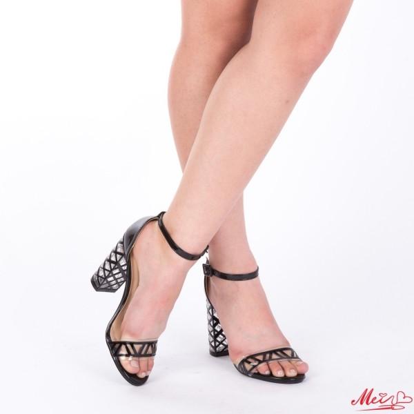 Sandale Dama cu Toc XKK93 Black Mei