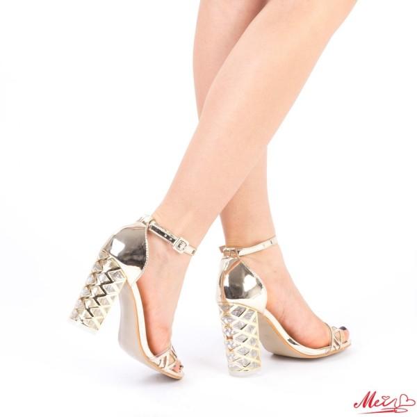 Sandale Dama cu Toc XKK93 Gold Mei