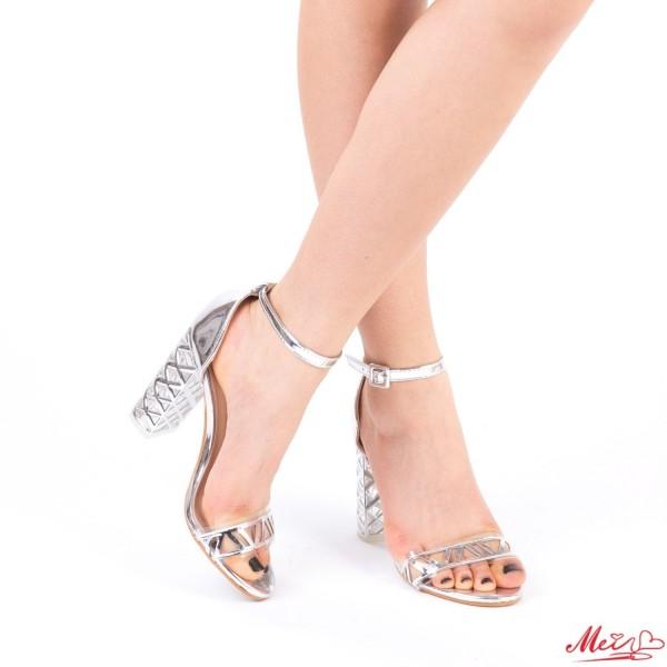 Sandale Dama cu Toc XKK93 Silver Mei