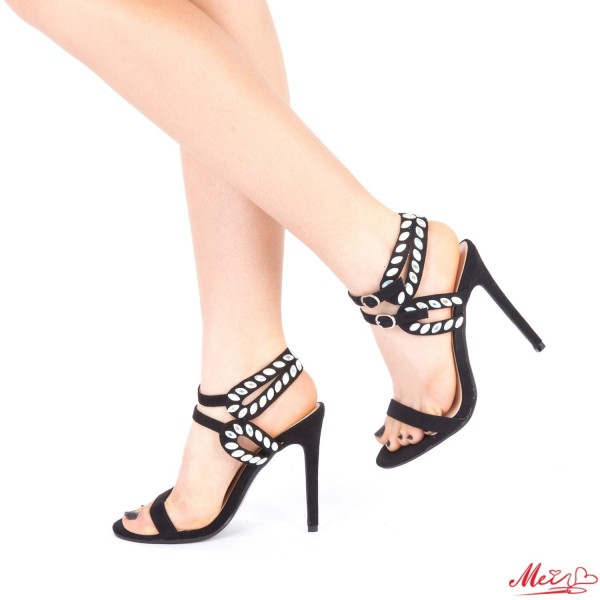 Sandale Dama cu Toc XKK95 Black Mei