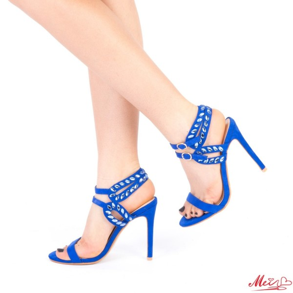 Sandale Dama cu Toc XKK95 Blue Mei