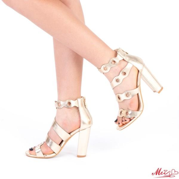Sandale Dama cu Toc XKK98 Gold Mei