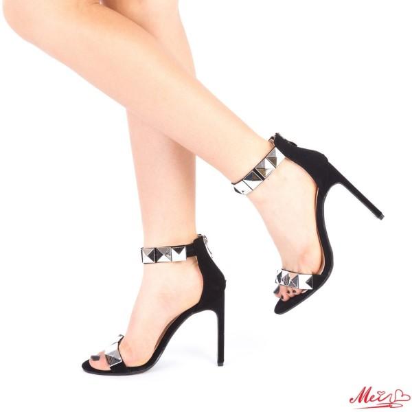 Sandale Dama cu Toc XKK99 Black Mei