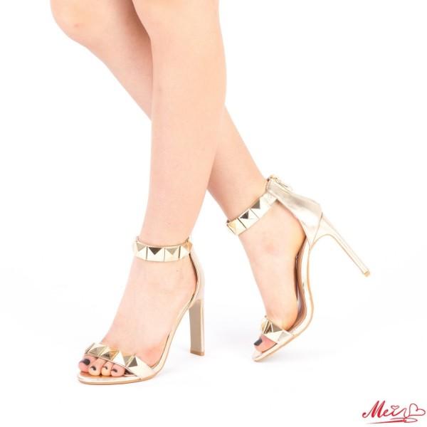 Sandale Dama cu Toc XKK99 Gold Mei
