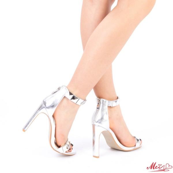 Sandale Dama cu Toc XKK99 Silver Mei