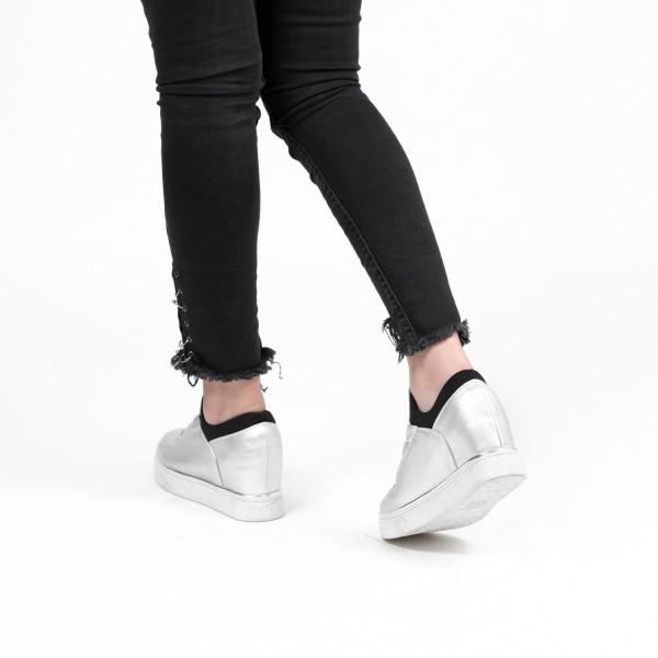Pantofi Sport Dama cu Platforma XT3 Silver Mei