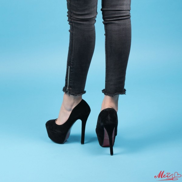 Pantofi cu Toc si Platforma Y211 Black Mei