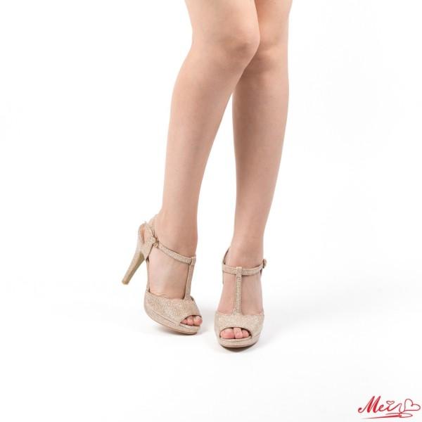Pantofi cu Toc si Platforma Y225 Champagne Mei