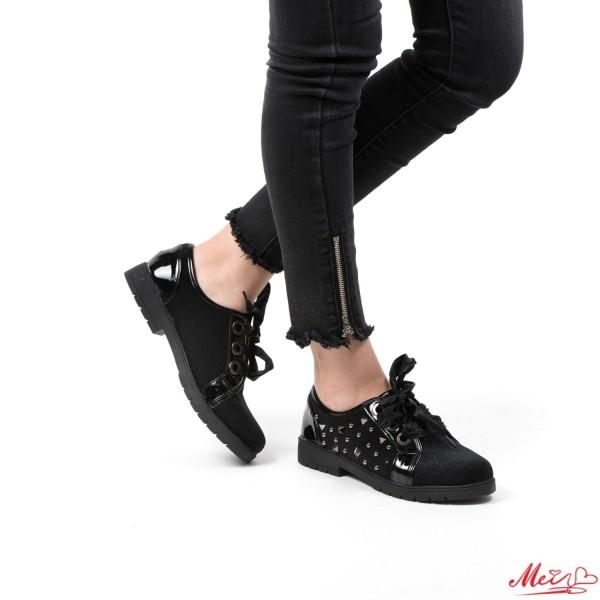 Pantofi Casual Dama YT02 Black Mei