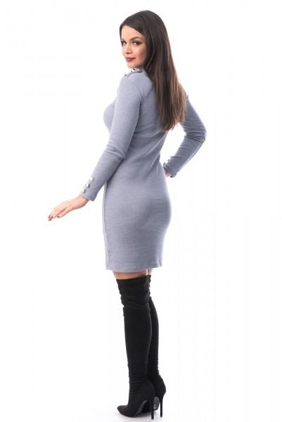 Rochie 6541 Blue-Grey Mei