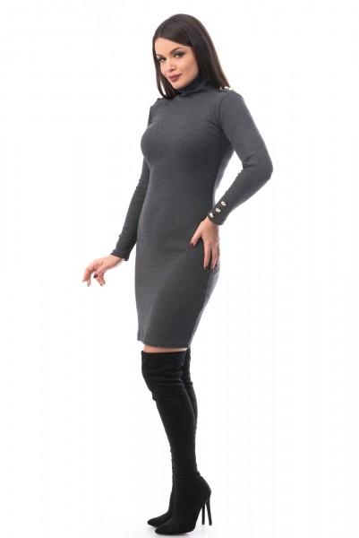 Rochie 6541 Dark Grey Mei