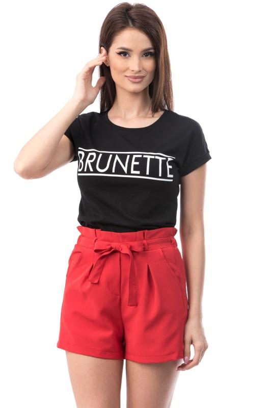 Tricou 6737 BRUNETTE Negru Mei