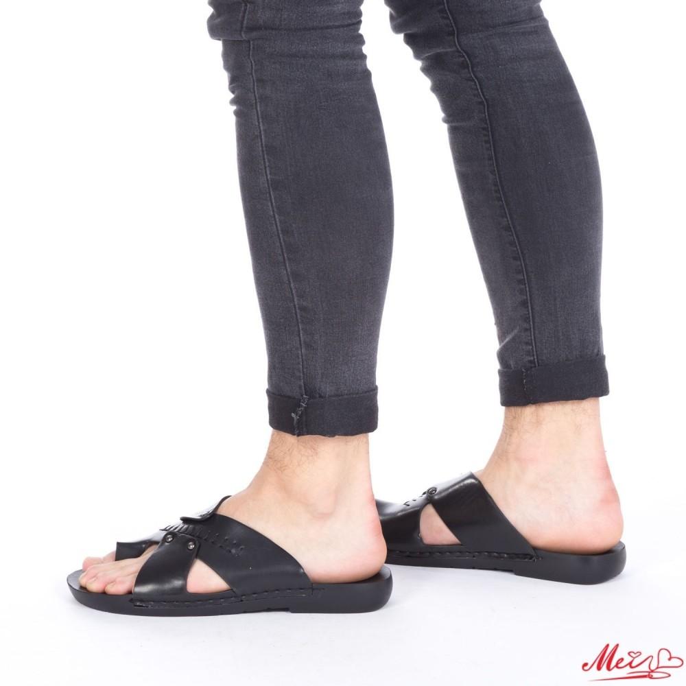 Papuci Barbati A15 Black Mei