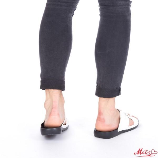 Papuci Barbati A15 White Mei