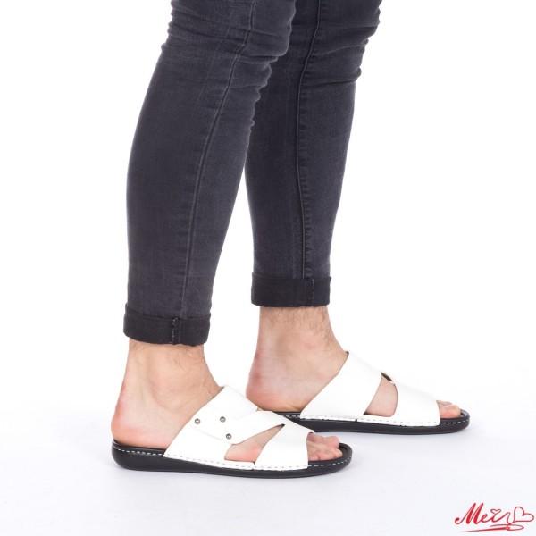 Papuci Barbati A16 White Mei