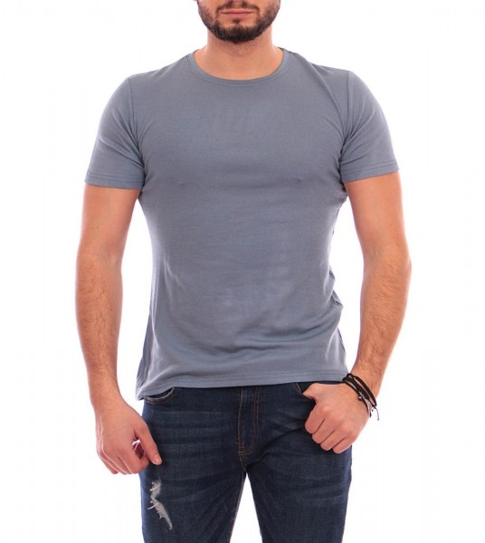 Tricou Barbati A8036 Blue-Grey Andrid