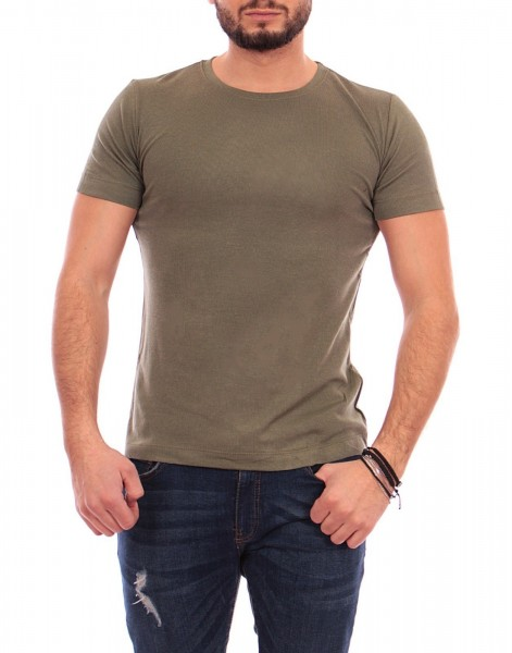 Tricou Barbati A8036 Army Green Andrid