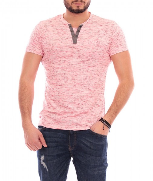 Tricou Barbat A9303 Light Red Andrid