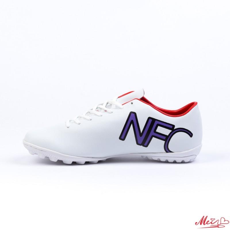 Ghete Fotbal Copii 103D# White/Black/Red Mei