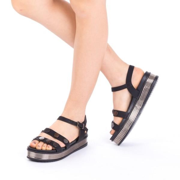 Sandale Dama cu Platforma CS15 Black Mei