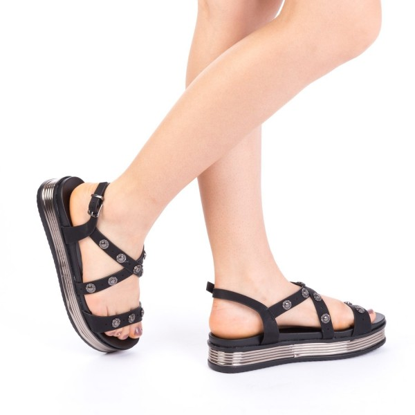 Sandale Dama cu Platforma CS16 Black Mei