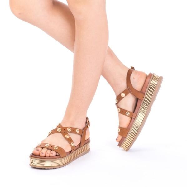 Sandale Dama cu Platforma CS16 Brown Mei