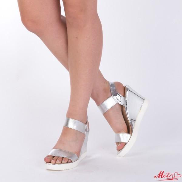 Sandale cu Toc si Platforma GH103 Silver Mei