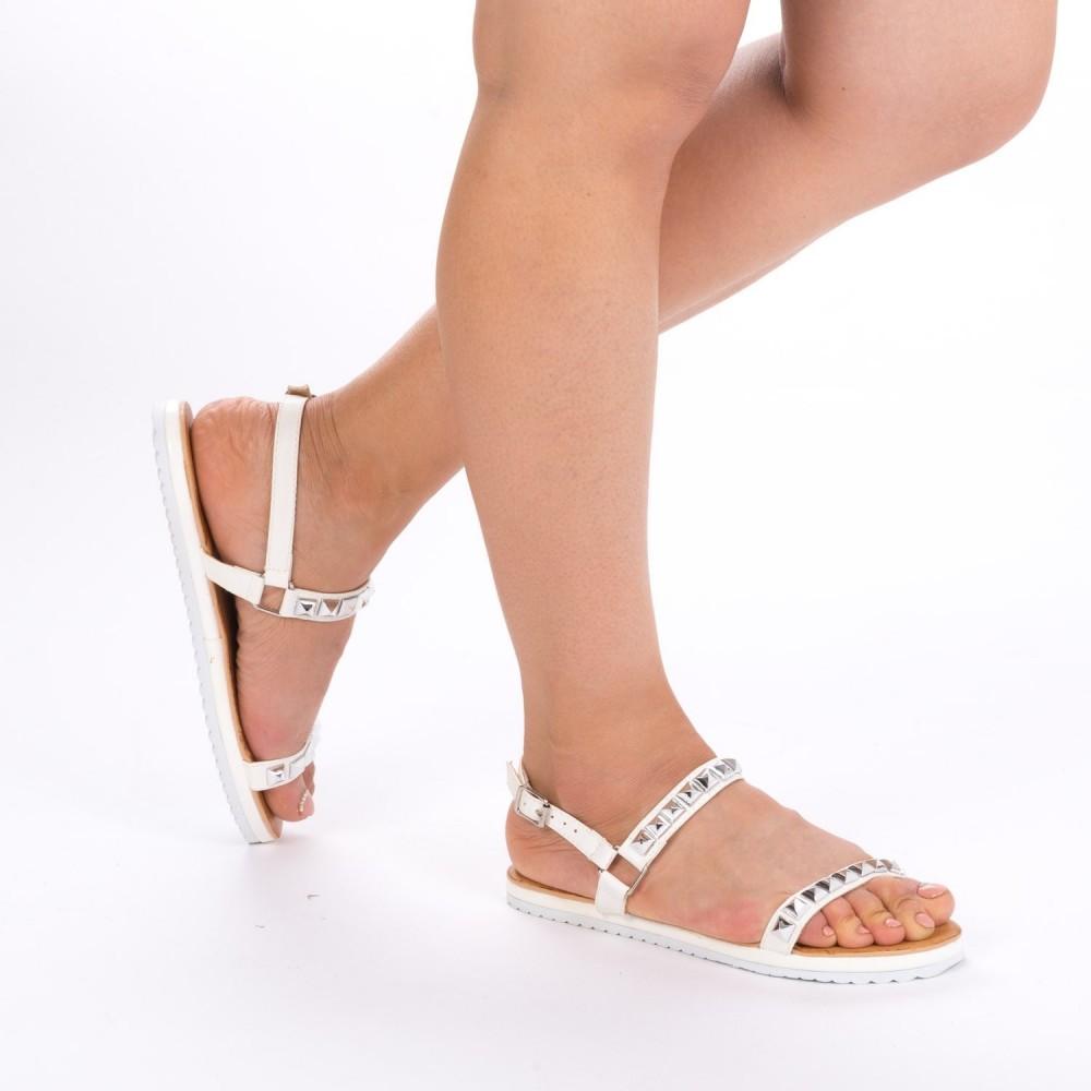 Sandale Dama JZF3 White Mei