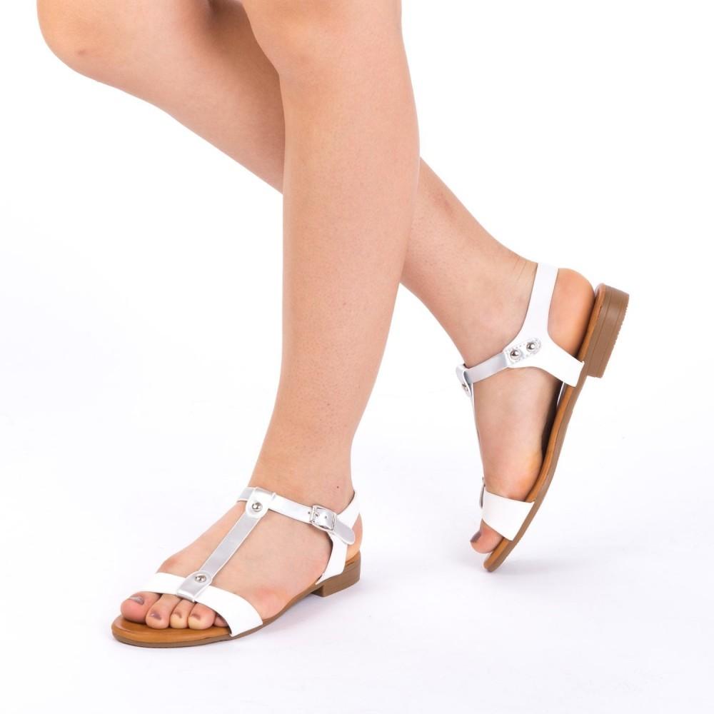 Sandale Dama JZF5 White Mei