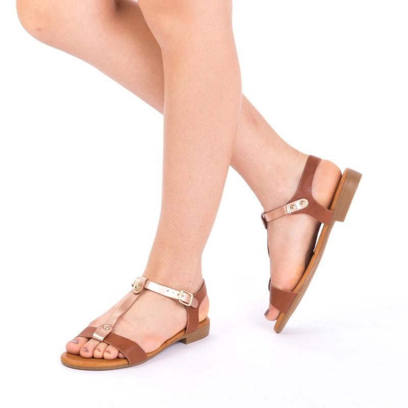 Sandale Dama JZF5 Brown Mei