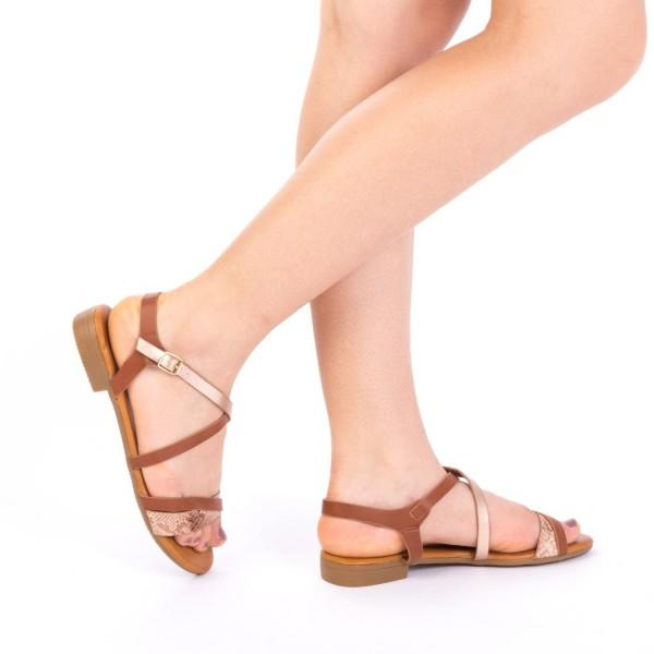 Sandale Dama JZF6 Brown Mei