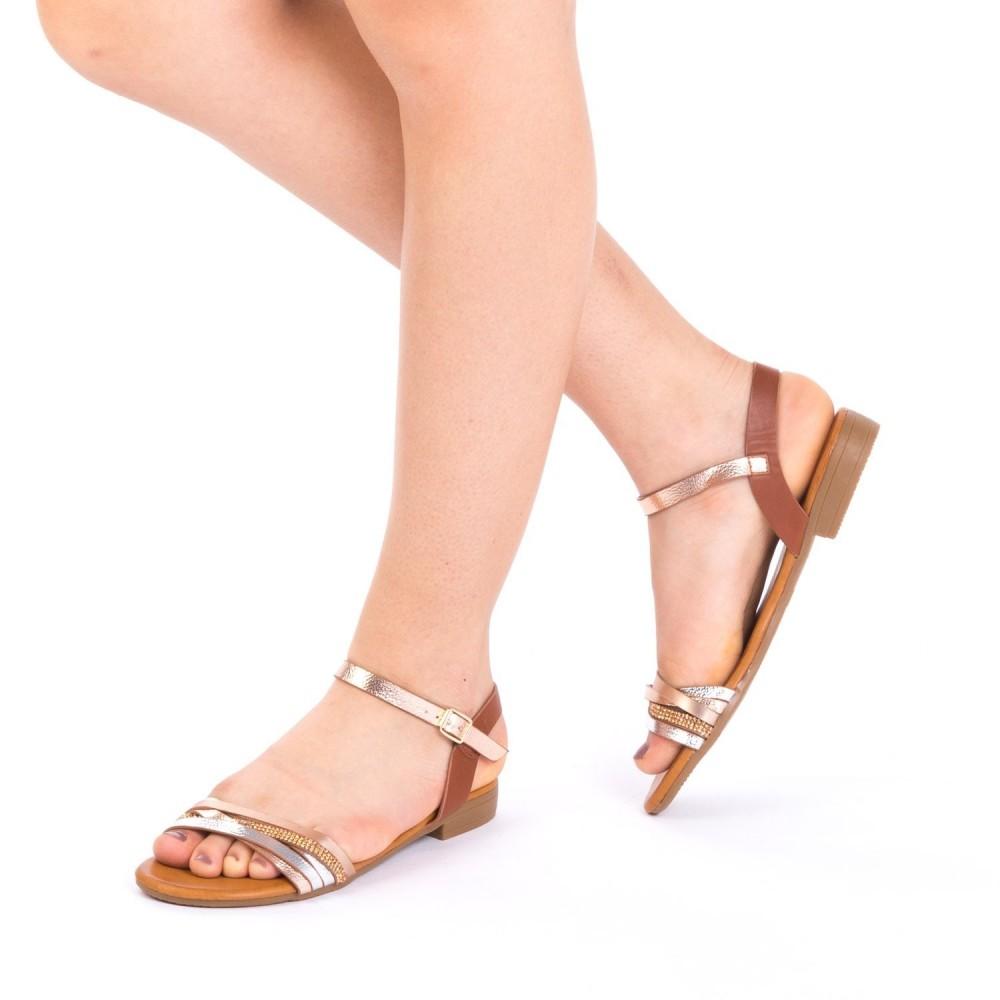 Sandale Dama JZF7 Champagne Mei