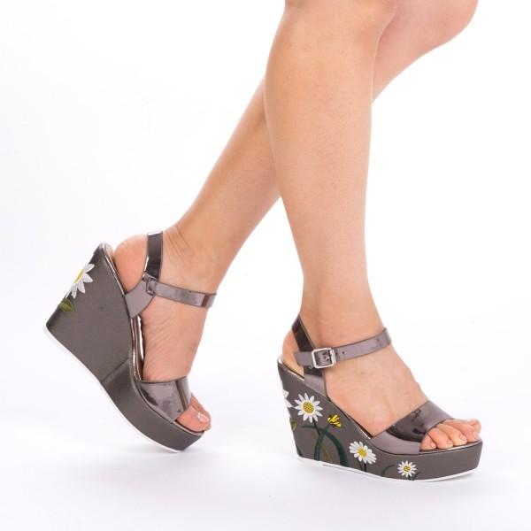 Sandale cu Toc si Platforma LM132 Guncolor Mei