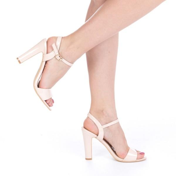 Sandale cu Toc OS09 Nude Mei