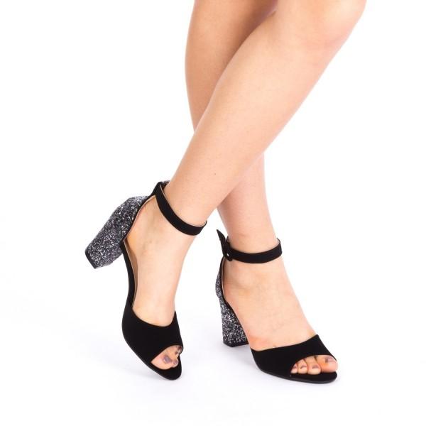 Sandale cu Toc QZL180 Guncolor Mei
