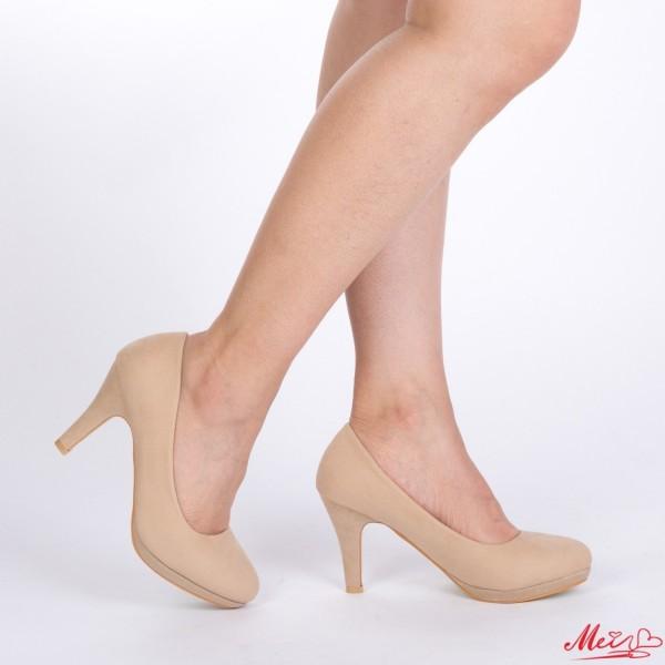 Pantofi cu Toc QZL65A Beige Mei