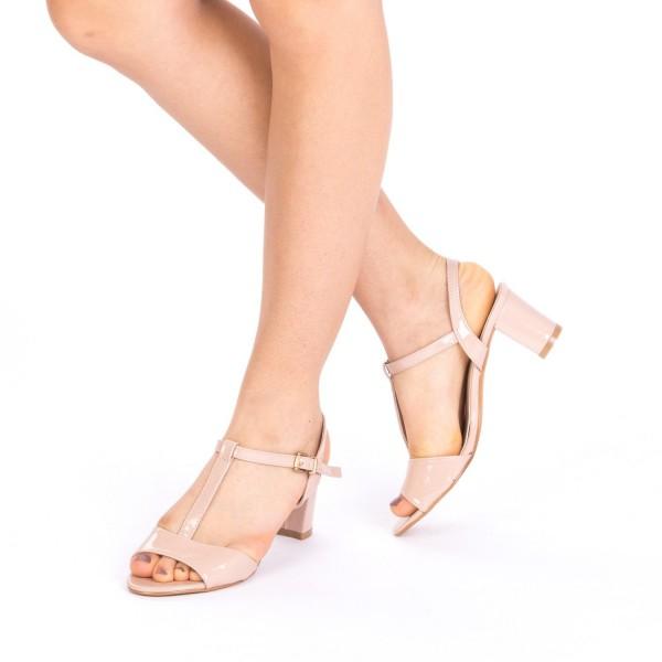Sandale cu Toc WH1001 Apricot Mei
