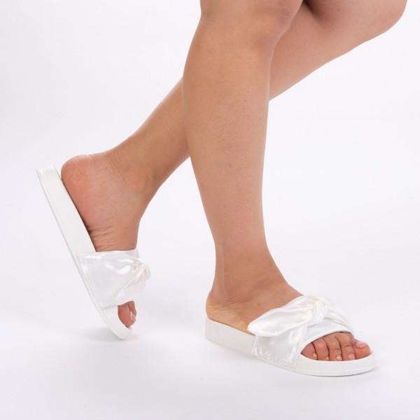 Papuci Dama WS68 White Mei