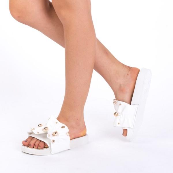 Papuci Dama WS92 White Mei