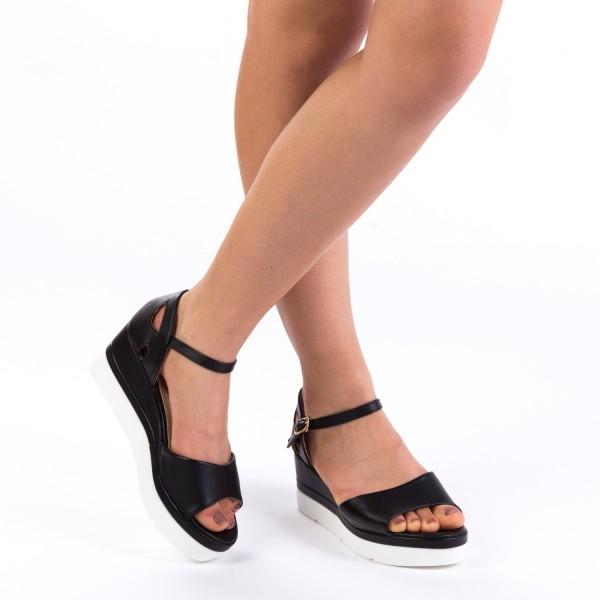 Sandale cu Toc si Platforma LM236 Black Mei