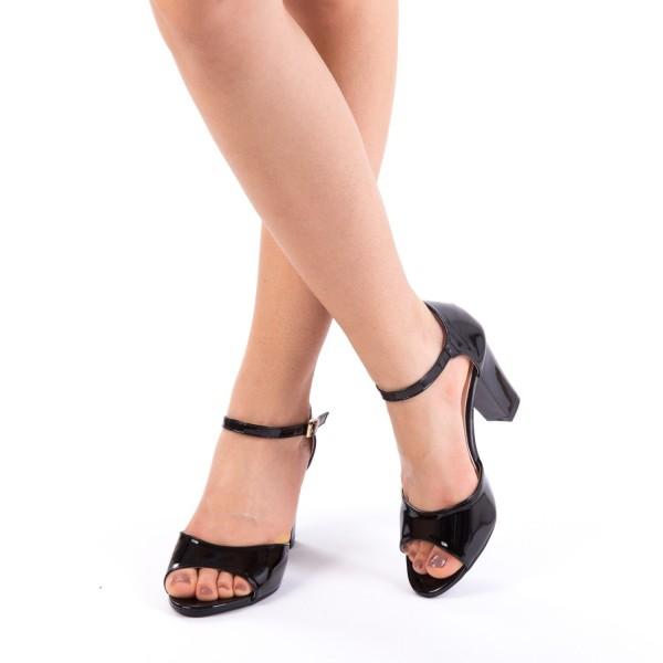 Sandale cu Toc QZL79 Black Mei
