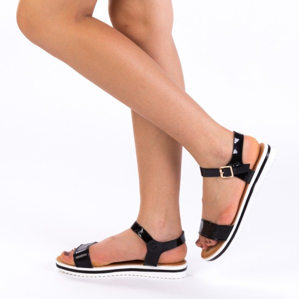 Sandale Dama WT158 Black Mei