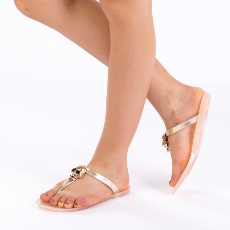Papuci Dama 588-7 Gold Mei