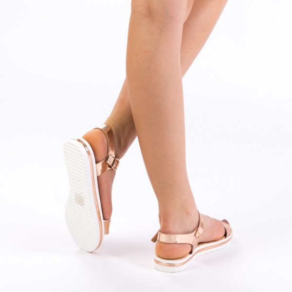 Sandale Dama LM163 Champagne Mei